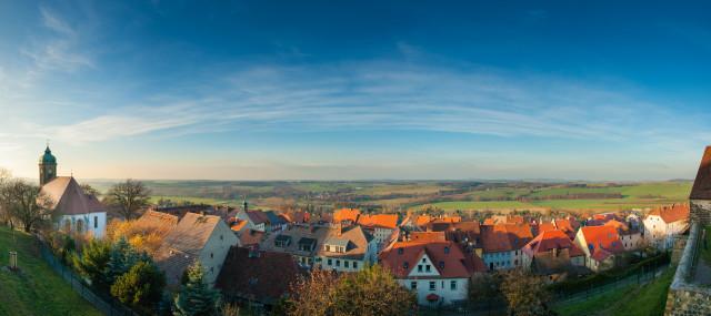 Panorama Stolpen von der Burg