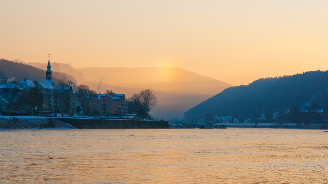 Nebensonne im Eisnebel, Bad Schandau