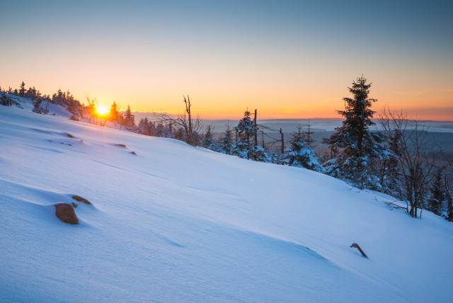Winterabend auf dem Kahleberg