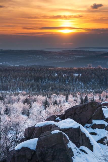 Sonnenuntergang auf dem Großen Lugstein