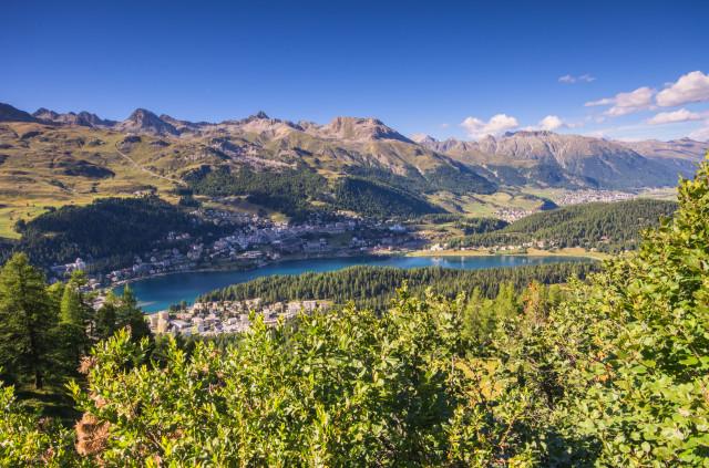 Blick über St. Moritz