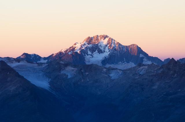 Monte Disgrazia, gesehen vom Piz Julier