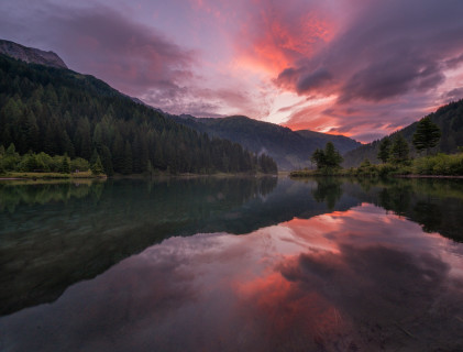 Morgenrot am Schlierersee