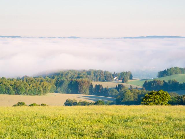 Morgendliche Inversion im Frühsommer
