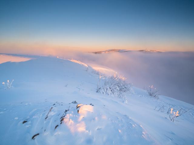 Wintermorgen auf dem Herzogenhorn