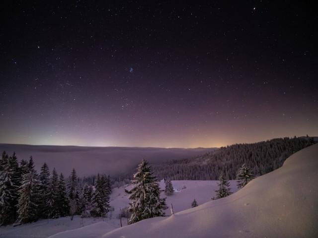 Winternacht zwischen Feldberg und Rinken