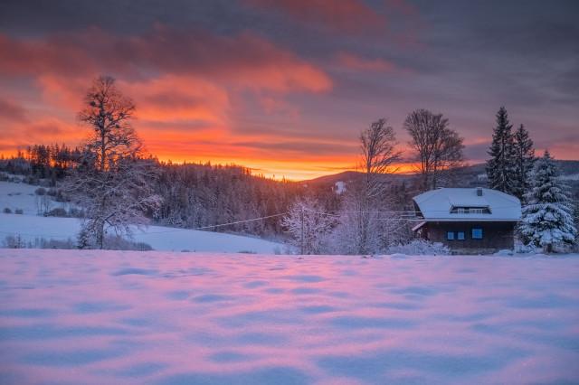 Morgenstimmung, Landratshütte bei Hinterzarten