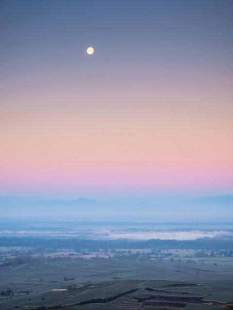 Blick von der Mondhalde zu den Vogesen