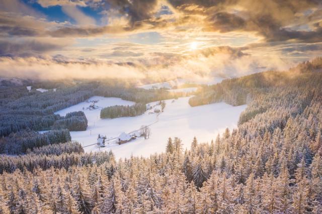 Winterabend bei Breitnau