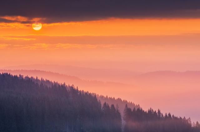 Sonnenaufgang bei der Fürsatzhöhe