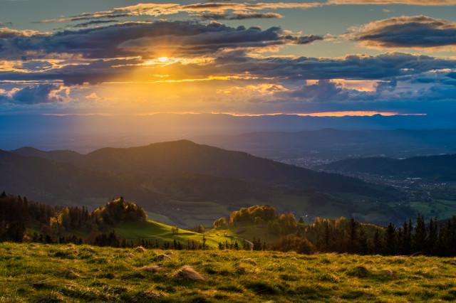 Sonnenuntergang auf dem Hinterwaldkopf