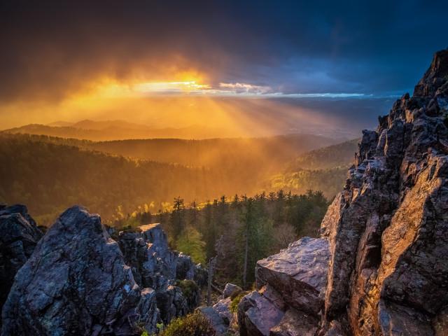 Regen und Abendsonne