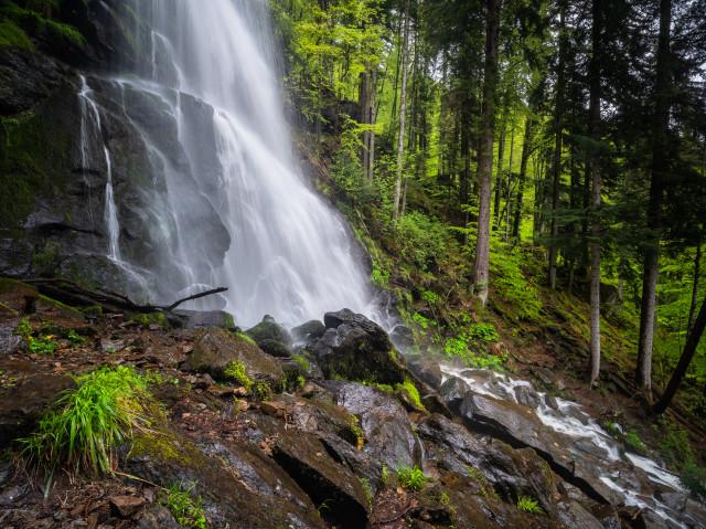 Zweribach, unterer Wasserfall