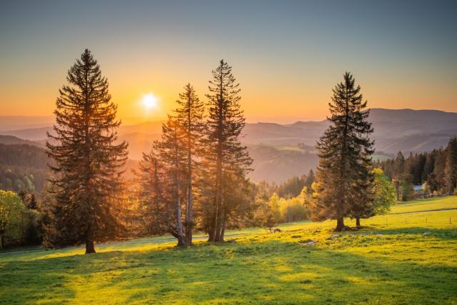 Sonnenuntergang bei Breitnau