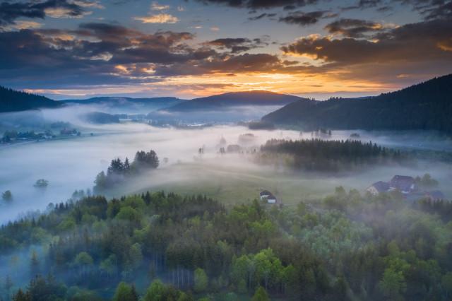 Morgenstimmung zwischen Titisee und Neustadt