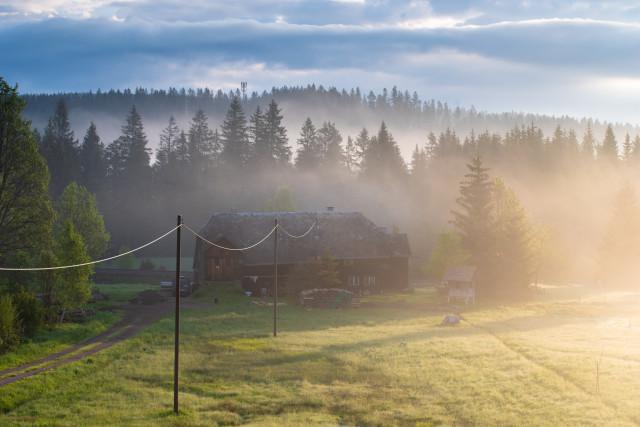 Morgenstimmung, Winterhalde