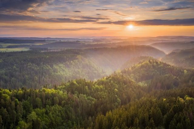 Sonnenaufgang über der Wutachschlucht