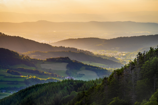 Blick Richtung Freiburg am Roteck