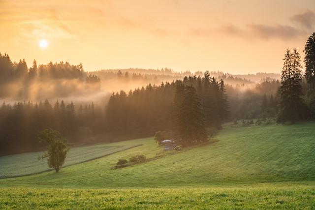 Morgenstimmung im oberen Gauchachtal
