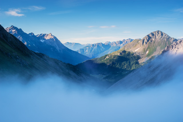 Berglandschaft über dem Valposchiavo