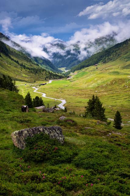 Landschaft am Flüelapass