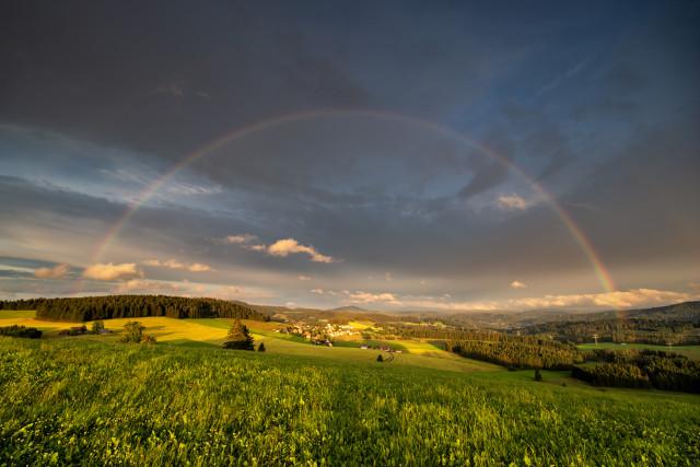 Regenbogen über Breitnau