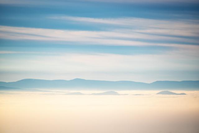Blick vom Schauinsland zu den Vogesen